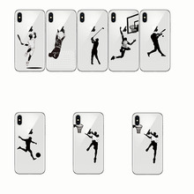 Baseball Football Soccer Tennis Golf Sports Athlete Soft Silicone Phone Cases Cover for Iphone 7 8 Plus 5s se X 5 6 6S