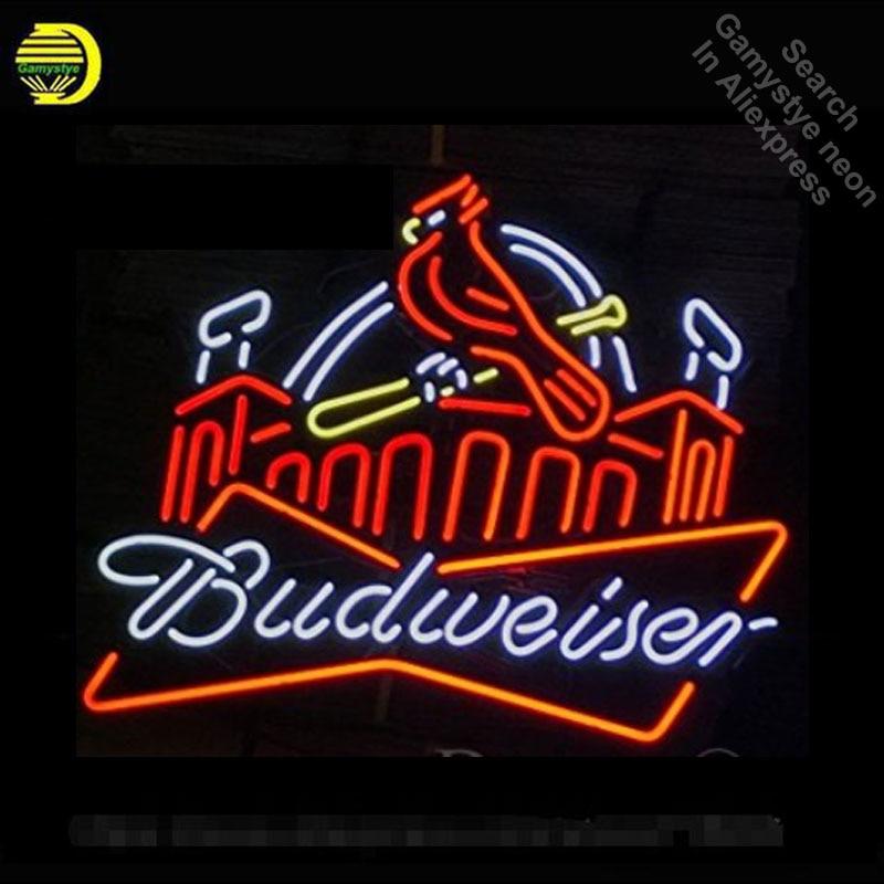 Neon Sign for Beer Club bird neon bulb Sign Budweise Neon lights Sign Real glass Tube Iconic Bulbs lamp Custom design LOGO