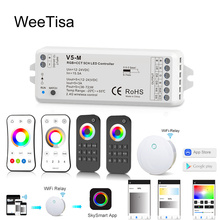 12V LED Controller RGBCCT DC 24V PWM 5CH RF Wireless Remote Smart Wifi for RGBWW Strip Light Lamp