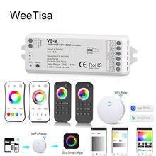 Светодиодный контроллер rgbcct беспроводной смарт с wi fi для