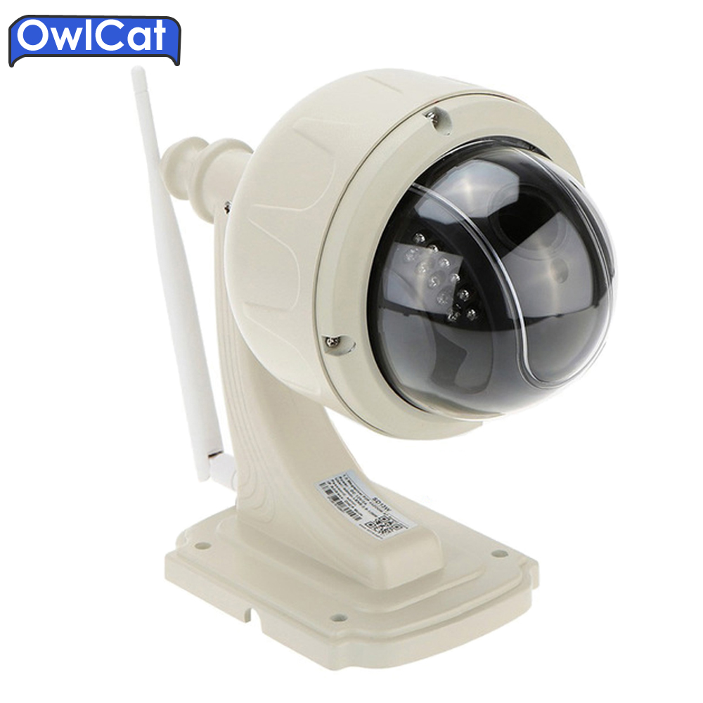 Owlcat HD Outdoor Security CCTV Camera 960 1080P PTZ Speed Dome WIFI IP Camera 5X Zoom Auto Focus Lens Micro SD Card ONVIF2.0 hd 720p owlcat onvif wifi dome ip camera home video surveillance smart dome ir cctv network security camera support 128g sd card