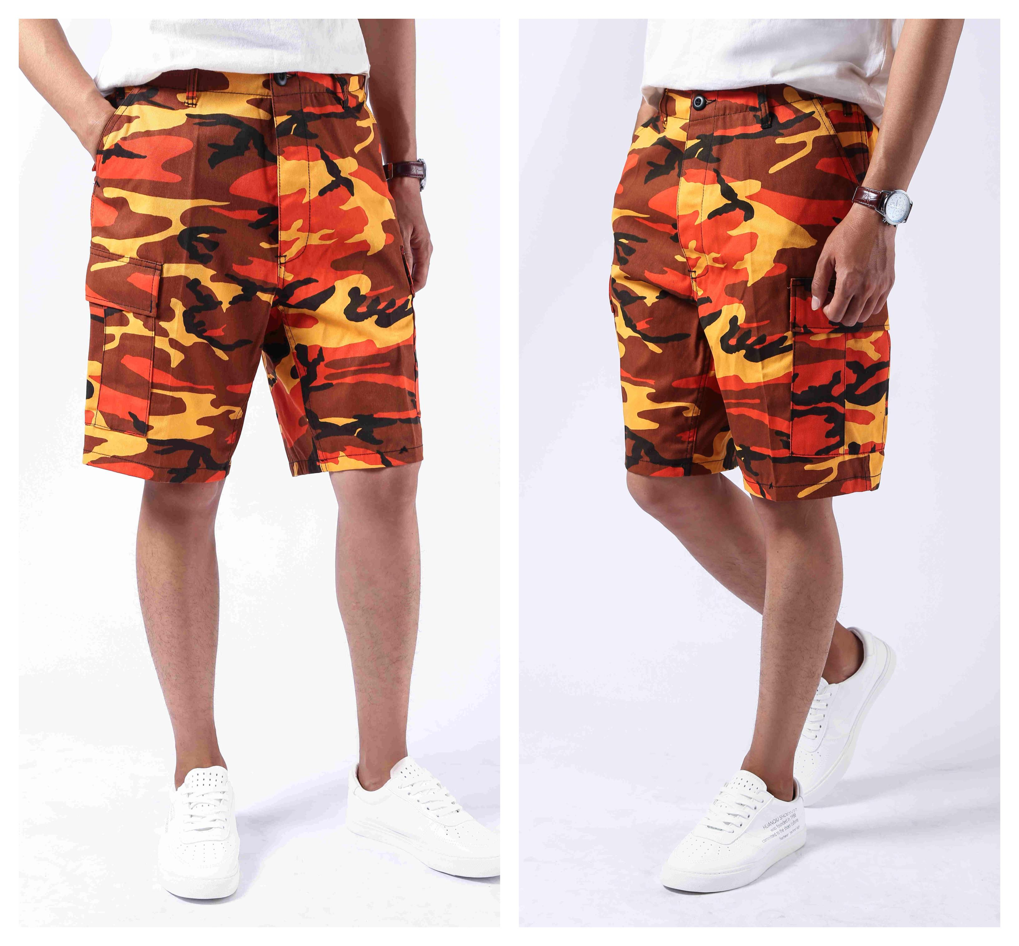 Mens Army Style Combat Military BDU   Shorts   Casual Work Camouflage Cargo   Shorts