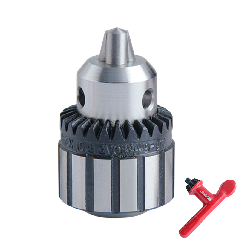 0.6-6mm Drill Chuck B12 Taper Adapter With Key Collet Chuck For Electric Lathe Machine Tool Accessories