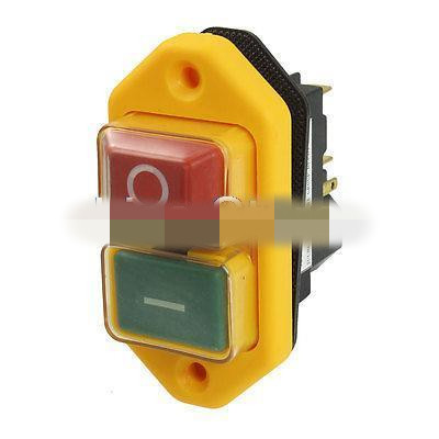 Model JCZ3A 5-Pin Switch  DPST 2-Phase 2-Button Momentary Waterproof Electromagnetic Switch 230VAC 5 pin dpst 2 phase 2 button momentary waterproof electromagnetic switch 230vac