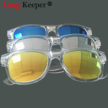 Long Keeper New Fashion Brand Kids Sunglasses Child Black Blue Sun Glasses Anti-