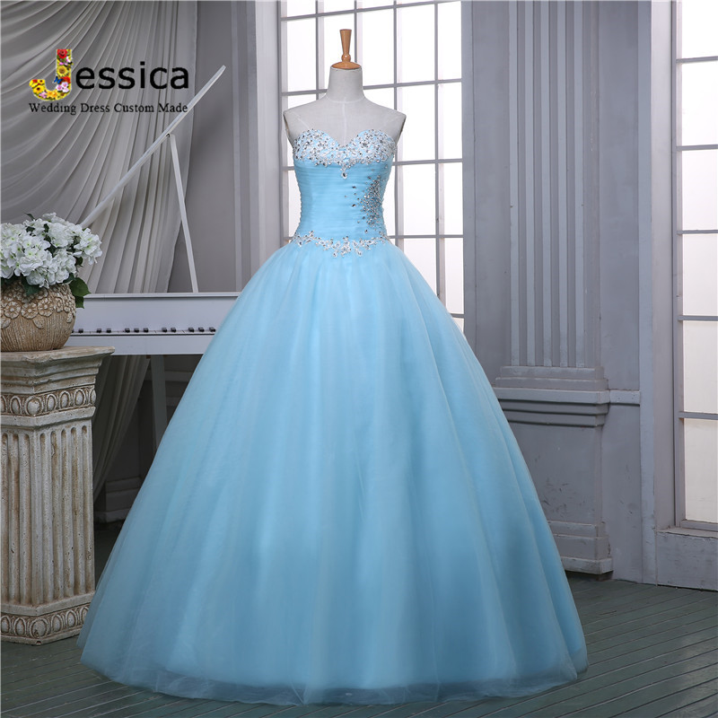 Sky Blue Wedding Gowns