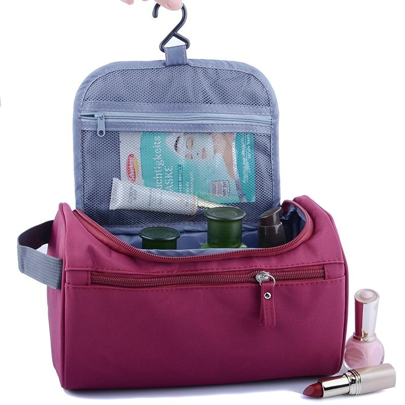 Man and woman Hanging Makeup Bag Nylon Travel Organizer Cosmetic Bag for Women Large Necessaries Make