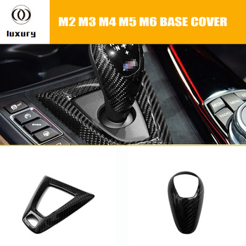 Carbon Fiber Interior Gear Shift Knob Decorative Trim Cover for BMW F80 M3 F82 F83 M4 F26 X4M F15 X5M F16 X6M image