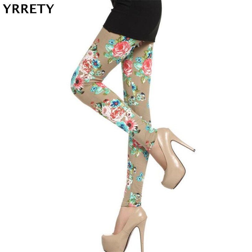 YRRETY Women   Leggings   High Street Cotton Leggin Casual Floral Printed   Legging   Graffiti Soft Fashion Women Trousers Hot Fashion