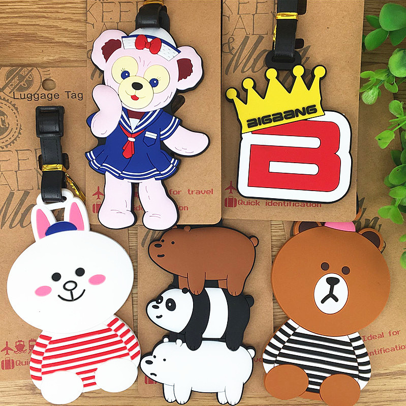 Luggage Tags Travel Accessories Bears Three Bears Brown Bear Suitcase ID Addres Holder Baggage Boarding Portable Label