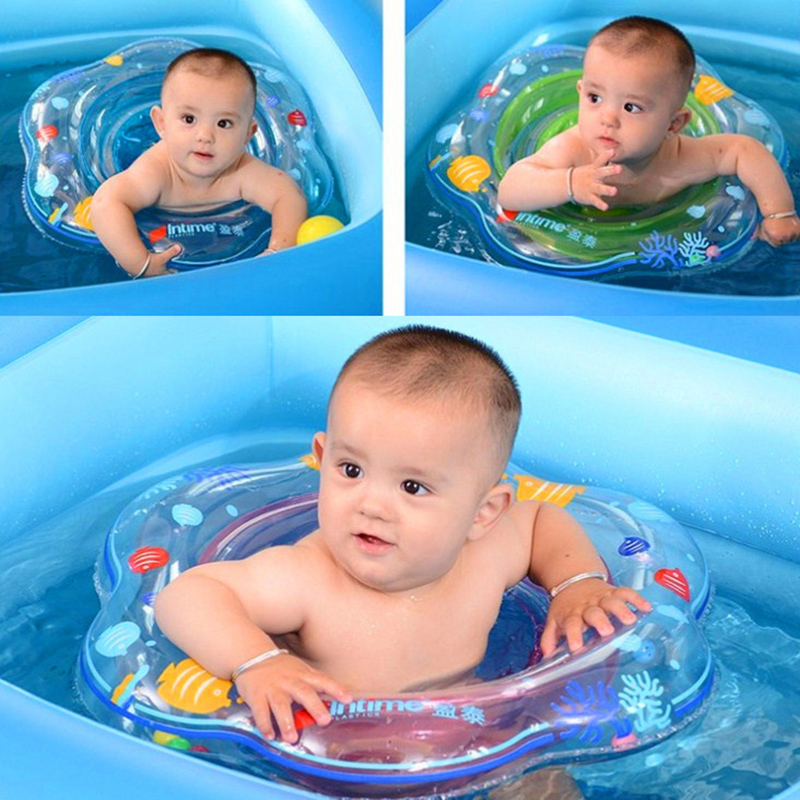 Baby Swim Ring Inflatable Infant Baby Seat Float Kids Swimming Pool Accessories Swim Circle Bathing Inflatable Double Raft Rings