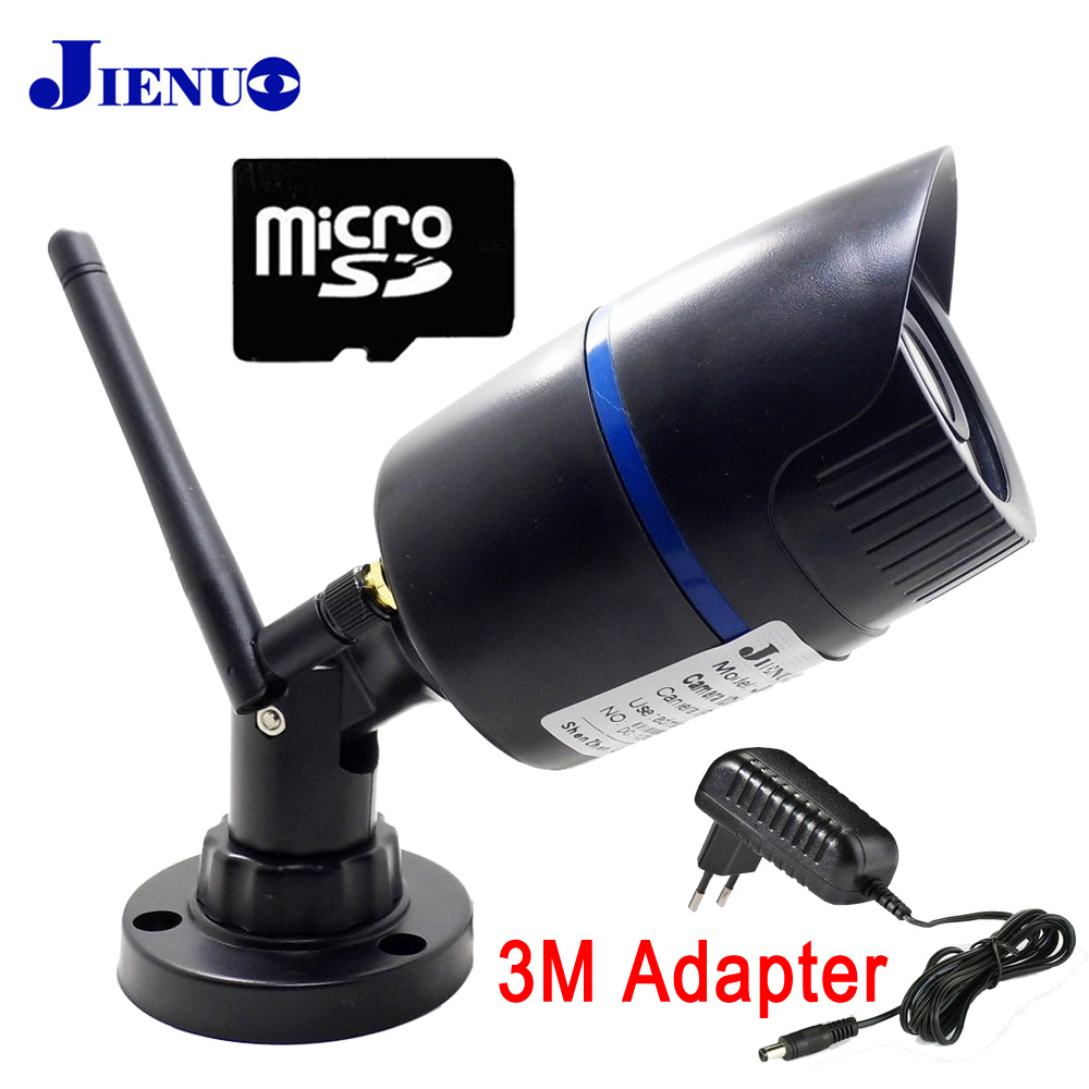 JIENU Cámara cámara IP wifi 720 P 960 P 1080 P vigilancia de seguridad CCTV impermeable al aire libre inalámbrica cam Micro ranura sd ipcam