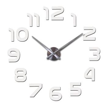 top fashion 3d wall clock reloj de pared quartz watch modern diy clocks living room large decorative horloge murale  stickers 15