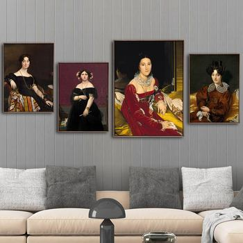 Home Decoration Print Canvas Art Wall Pictures Poster Canvas Printings Paintings French Jean-Auguste-Dominique ingres Portraits image