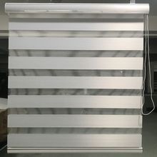 Zebra Blinds Custom Made Blackout Double Layer Roller Blinds in White Window Curtains for Living Room 12 Color are Available