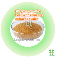 Free Shipping 100 Pure Natural 10 Years Korea Ginseng Root Extract And Cordyceps Sinensis Extract Powder