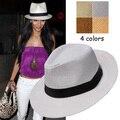 Новый Fedora Дерби шляпа Мужчины Женщины Мужская Шляпа Cap Sun Пляжа Лета Соломы Панама Top Hat