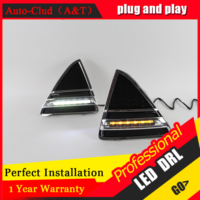 Auto Clud car styling For Ford FocusLED DRL For Focus led fog lamps daytime running light High brightness guide LED DRL A style auto clud car styling for toyota highlander led drl for highlander high brightness guide led drl led fog lamps daytime running l