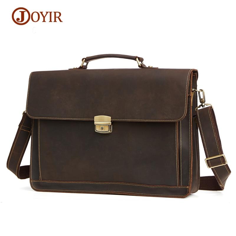 JOYIR Портфели Для мужчин из натуральной кожи Портфели мужской Бизнес Для мужчин мешок Docu Для мужчин t сумка Для мужчин сумка для ноутбука крат