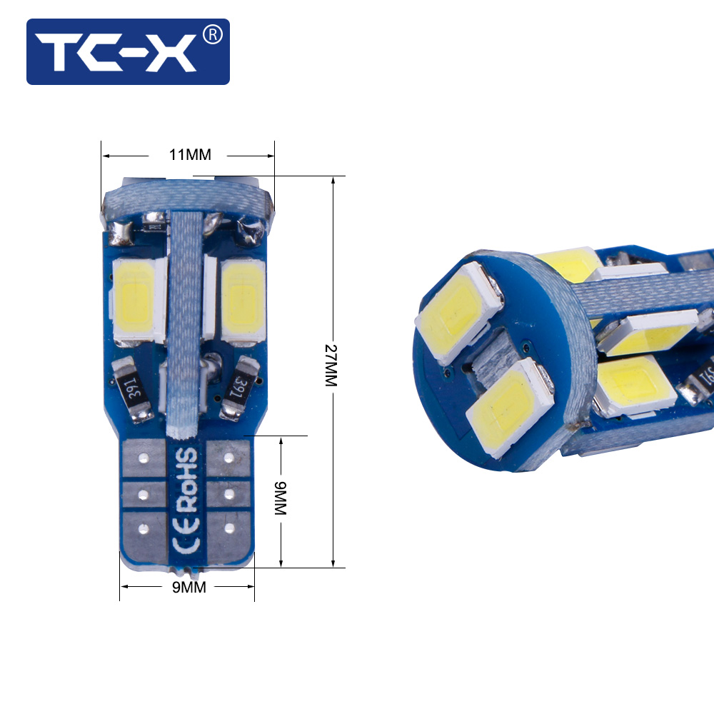 TC-X Canbus W5W T10 Señal LED Luces traseras de la lámpara para - Luces del coche - foto 4