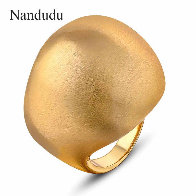 76a31b4345d4 Nandudu FLASH venta Punk estilo cobre cepillado anillos de joyería de moda  en forma de bola