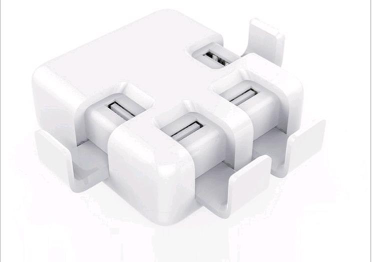 8A multi-port USB Boucle chargeur Mobile support de téléphone USB chargeur 4USB tête de chargement