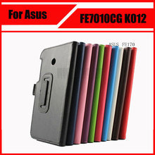 Wholesale Top Quality Lychee PU Leather Case with Stand For Asus FonePad 7 FE170