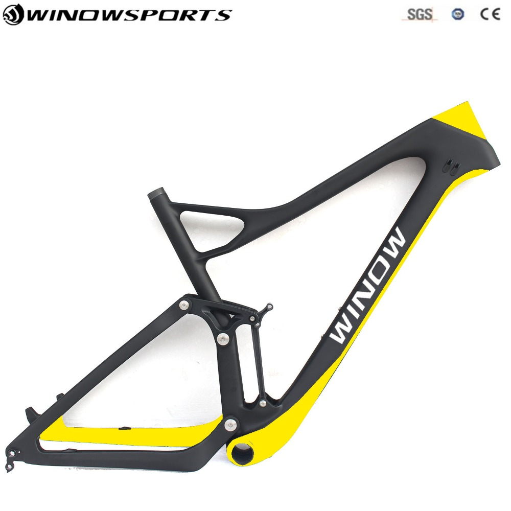 2018 New Full Suspension Mountain Bike Frame UD Matt 142*12 29er Chinese MTB Frameset High Quality Full Suspension Mtb Bike