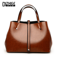 DIZHIGE Women Handbags High Quality Leather Shoulder Bag Ladies Hand Bags Solid Female Casual Tote Famous