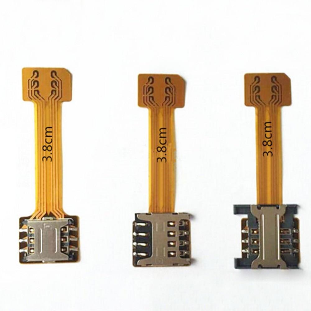 imágenes para 10 x híbrido doble dual sim adaptador de tarjeta sd micro para android extender 2 nano micro sim adaptador para xiaomi redmi note 3 4 3 s pro
