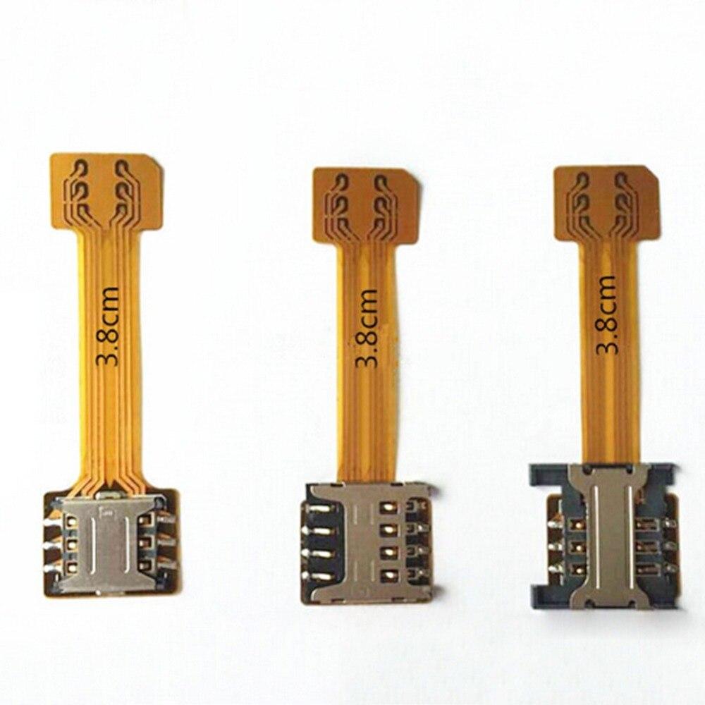 bilder für 10 x hybrid doppel dual-sim-karte micro sd adapter für android extender 2 nano micro sim adapter für xiaomi redmi note 3 4 3 s pro