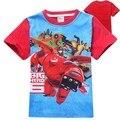 2015 Nuevos muchachos de la historieta big hero 6 camisetas kids summer impreso camiseta de algodón del ocio de los niños camisetas tops 2 colores