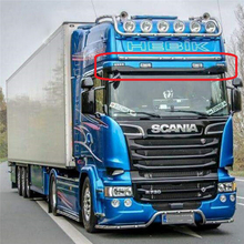 Rc 트럭 라이트 바 세트 tamiya 1/14 rc scania r470/r620 트레일러 트럭 장식 sun shield 조명 램프 부품