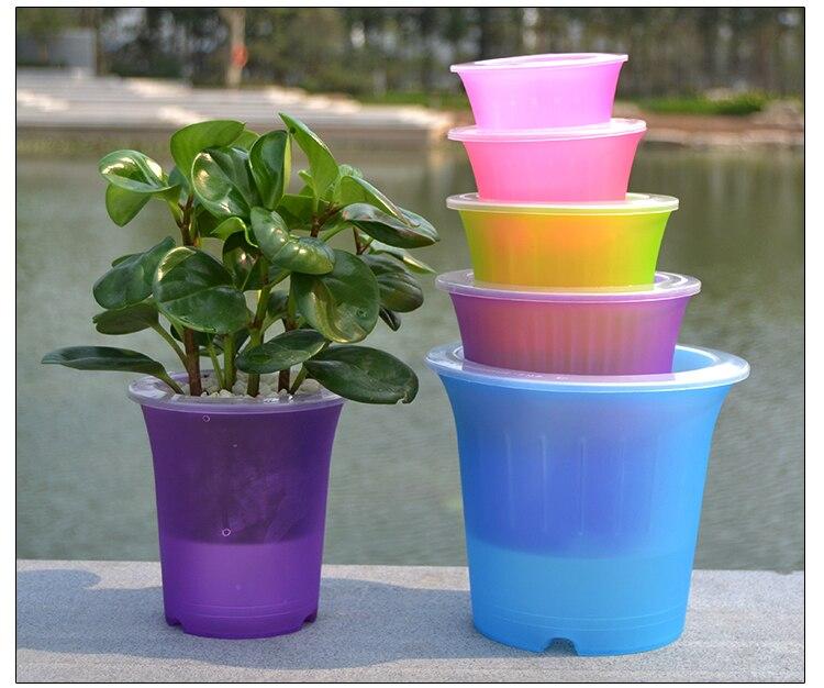 Min order 5 colorful flower planter plant pot home Colorful pots for indoor plants