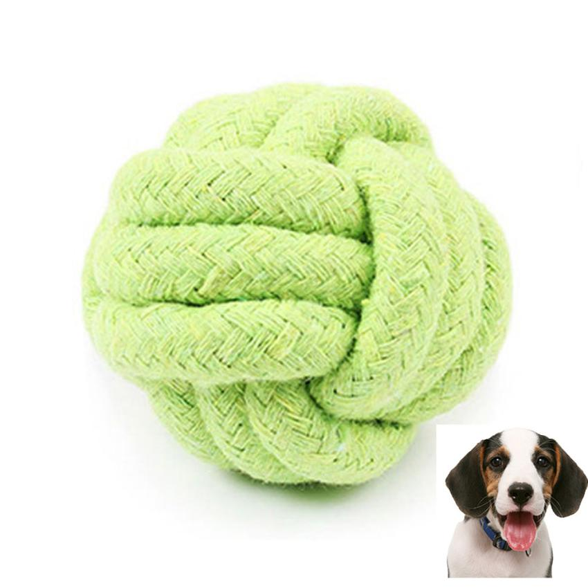 Dogs Toys For Traning 2018 Hot Cotton Ball Pets Rope Toy Biting Colorful Squeak Dog Modern Simple May28 In From Home
