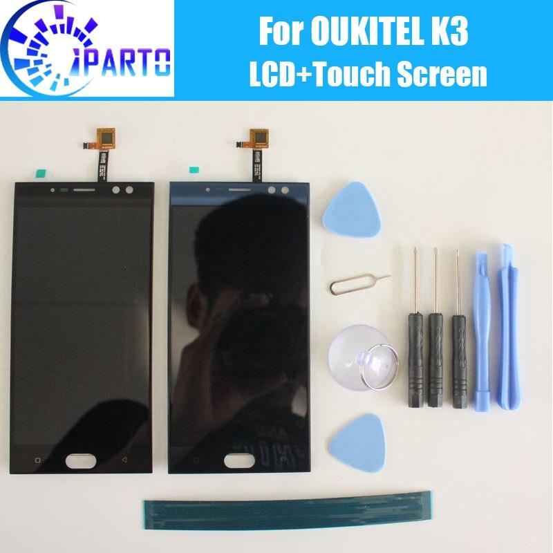 Oukitel K3 Écran lcd + Écran Tactile Assemblée 100% Original Testé LCD Digitizer Verre de Remplacement Du Panneau Pour Oukitel K3