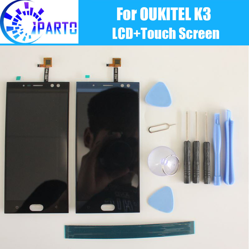 Oukitel K3 LCD Display+Touch Screen Assembly 100% Original Tested LCD Digitizer Glass Panel Replacement For Oukitel K3Oukitel K3 LCD Display+Touch Screen Assembly 100% Original Tested LCD Digitizer Glass Panel Replacement For Oukitel K3