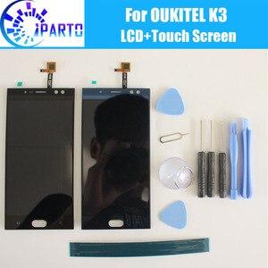 Oukitel K3 wyświetlacz LCD + zespół ekranu dotykowego 100% oryginalny przetestowany wyświetlacz LCD Digitizer wymienny szklany Panel dla Oukitel K3