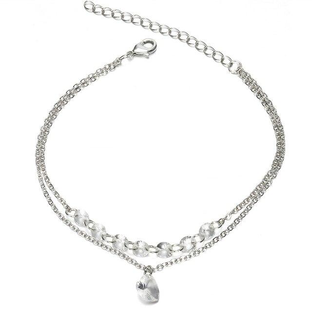 2019 New Fashion Simple Pretty Women Rhinestone Crystal Multilayer Bracelet Bangle Fashion Cuff Jewelry 3