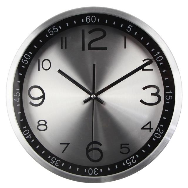 nice design quiet wall clock. Top Quality Silent Vintage Clock Quartz Metal Wall Modern Wandklok  with Luxury Highlight Frame