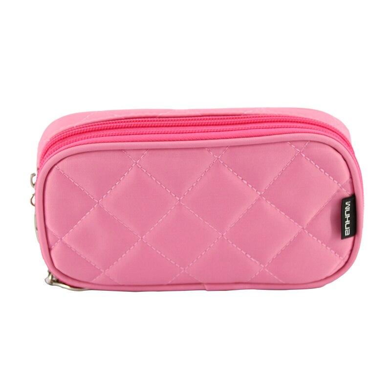 DINIWELL Women Rectangular Nylon Toiletry Bag Zipper Purse Mini Makeup Bag Lady Brush Organizer Make Up
