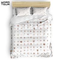 WARMTOUR Duvet Cover Butts Duvet Cover Set 4 Piece Bedding Set For Beds Comforter Bedding Sets DHL Shipping Method