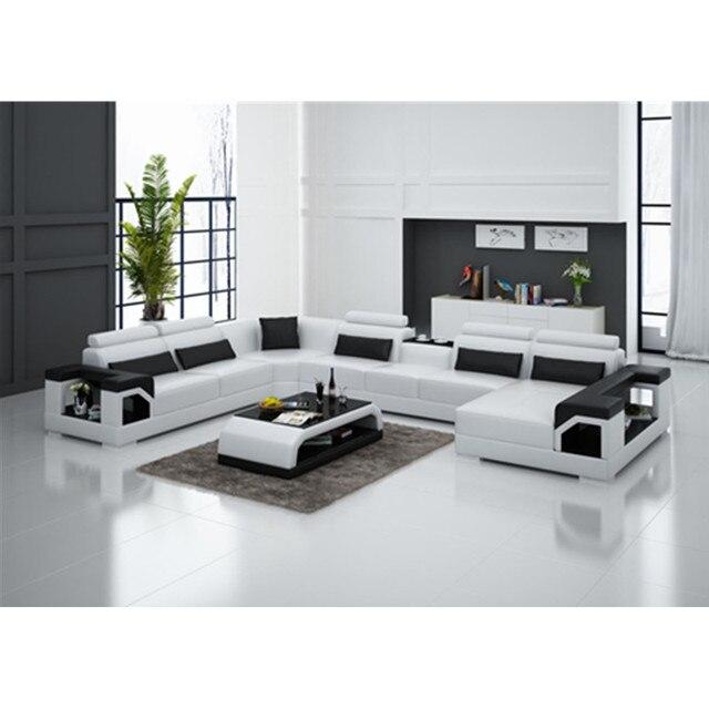 0413 G8010 Modern classic furniture living room leather sofa 7 ...