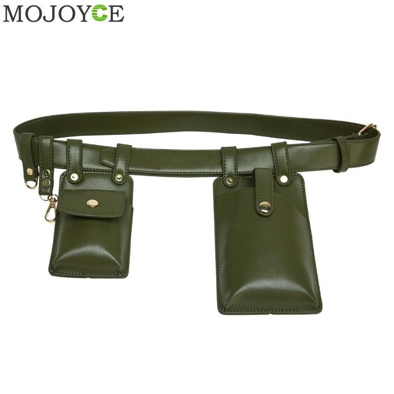 Women Waist Bag Fashion Leather Waist Belt Bag Crossbody Chest Bags Girl Fanny Pack Small Phone Pack Shoulder Strap Packs