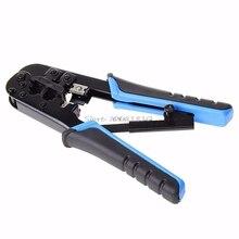 Двойной модульный сети инструмент для обжима кабеля провод резак Стриппер комплект RJ45 RJ12 Прямая доставка