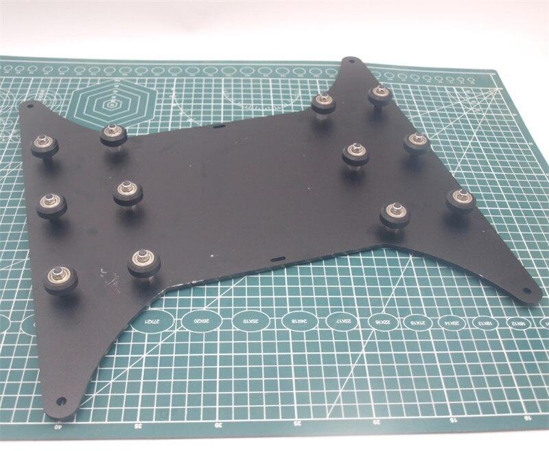 1 pcs * CR-10S 3D imprimante Partie Heatbed Plat De Chariot avec poulie pour CR-10s 4S 3D imprimante 400*400mm taille D'impression 4mm épais
