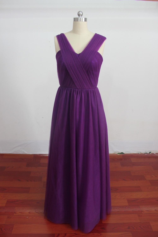 SG08 2015 Casual Vestido de Dama de honor Larga Piso Longitud Azul ...