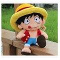 Kawaii 40 cm UNA PIEZA Del Mono D Luffy Juguetes de Peluche Suave Pleuche Anime Figura Muñeca para el Bebé Embroma el Regalo Hogar Suave Cojín Del Sofá