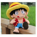 Kawaii 40cm ONE PIECE Monkey D Luffy Plush Toys Soft Pleuche Anime Figure Doll for Baby Kids Gift Home Soft Sofa Cushion