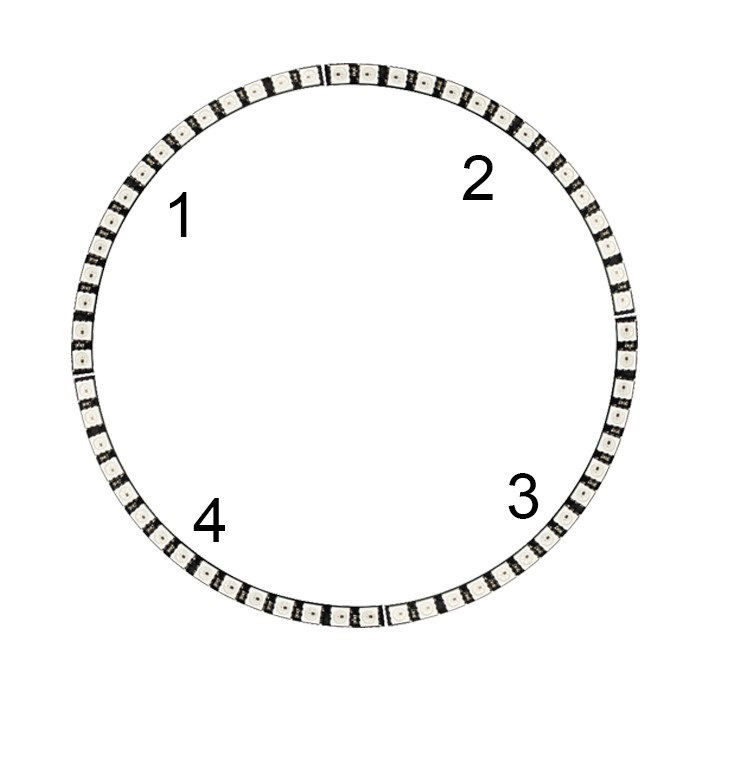 Ring Wall Clock 60 X Ultra Bright WS2812 5050 RGB LED Lamp Panel with Integrated Drivers in Replacement Parts Accessories from Consumer Electronics